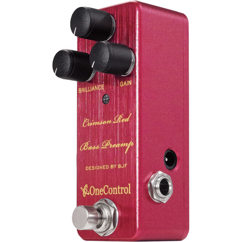 OneControl Crimson Red Bass Preamp Pedal