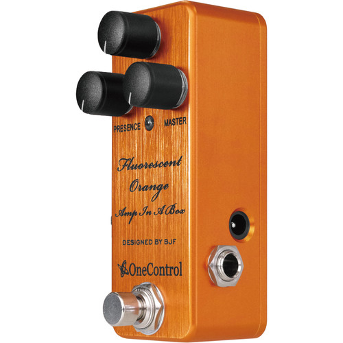 OneControl Fluorescent Orange Amp-in-a-Box Distortion Pedal