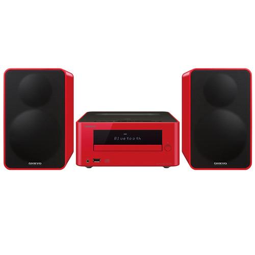 Onkyo CS-265 Colibrino CD Hi-Fi Bluetooth Mini System (Red)