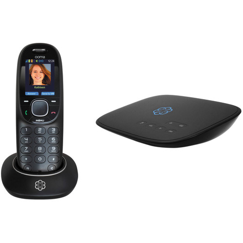 Ooma Telo 2 VoIP Phone System Kit with Ooma HD2 Handset