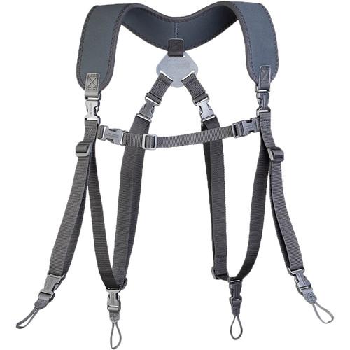 OP/TECH USA Dual Harness Uni-Loop Version (Extra Long, Black)