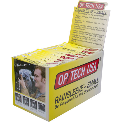 "OP/TECH USA 8"" Small Rain Sleeve (Counter Display, 20 Pack of 2)"