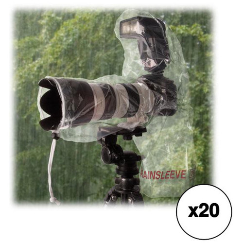 "OP/TECH USA Rainsleeve for Flash & 14"" Lens (20 Packs of 2)"