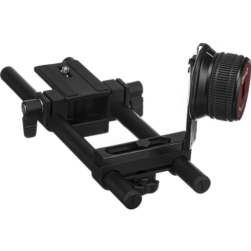 Opteka Gearless Follow Focus Rig with 15mm Rod Kit for Digital SLR Cameras