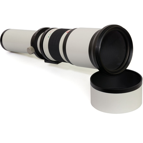 Opteka 650-1300mm f/8-16 Preset Telephoto Zoom Lens for T Mount (White)