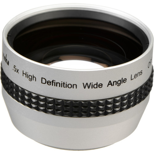 Opteka 0.5x HD II Wide Angle Conversion Lens (37mm, Silver)