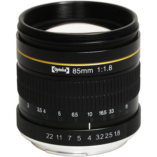 Opteka 85mm f/1.8 Lens for Canon EF