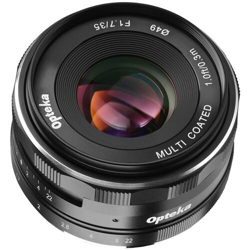 Opteka 35mm f/1.7 Lens for Fujifilm X