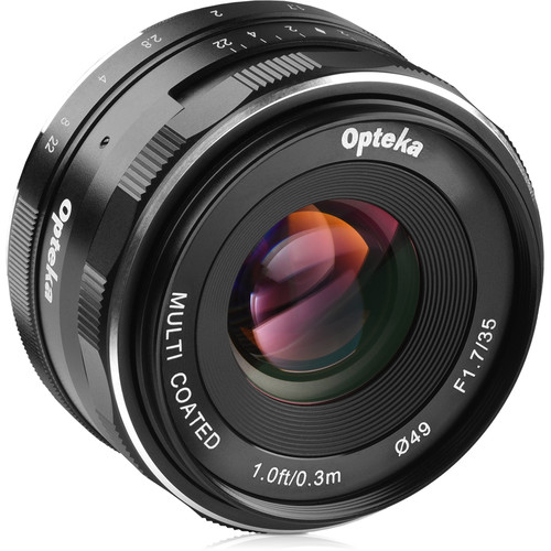 Opteka 35mm f/1.7 Lens for Sony E