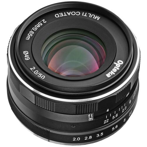 Opteka 50mm f/2 Lens for Fujifilm X