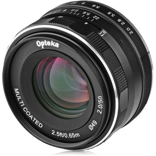 Opteka 50mm f/2 Lens for Micro Four Thirds