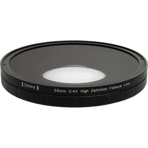 Opteka 0.4X HD2 Large Element 58mm Fisheye Lens for Camcorders