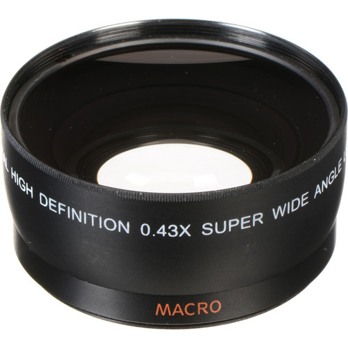 Opteka 0.43x Super-Wide Angle Macro Converter Lens for 58mm Filter Thread (Black)