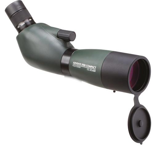 Opticron 15-45x60/45 Adventurer Spotting Scope (Angled Viewing, Green)