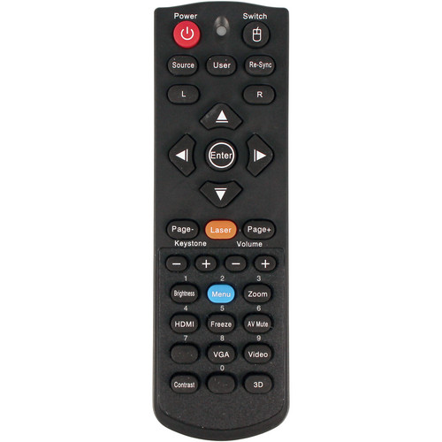Optoma Technology BR-5042L Remote Control with Laser and Mouse Function
