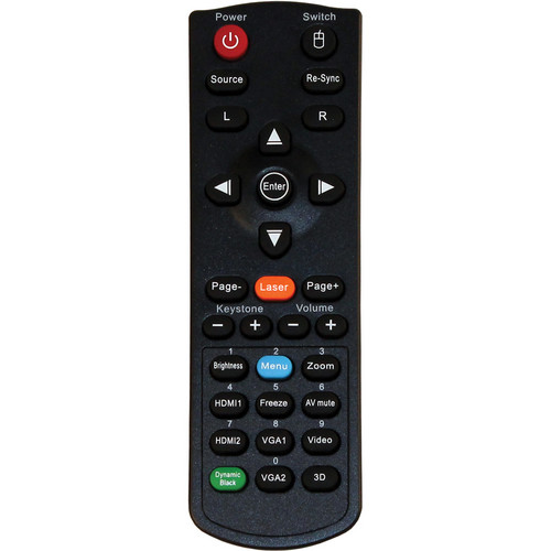 Optoma Technology BR-5047L Remote Control with Laser and Mouse Function