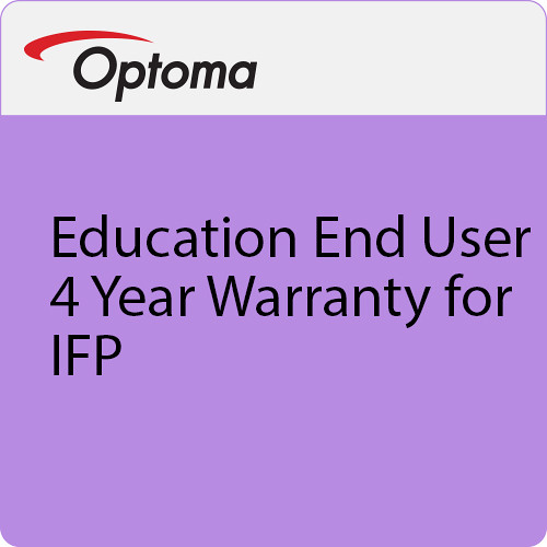 Optoma Technology Education End User 4-Year Warranty for IFP