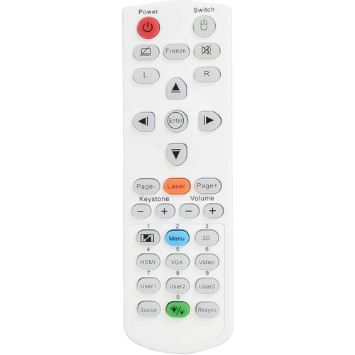 Optoma Technology Remote Control with Laser & Mouse Function