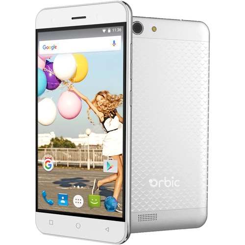 Orbic Slim 16GB Smartphone (Unlocked, Silver)