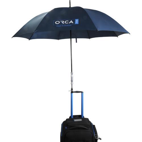 ORCA Outdoor Production Umbrellawith Cine Clamp (XL, Black)