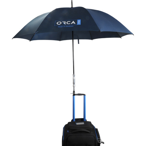 ORCA Outdoor Production Umbrella with Cine Clamp (XL, Black)