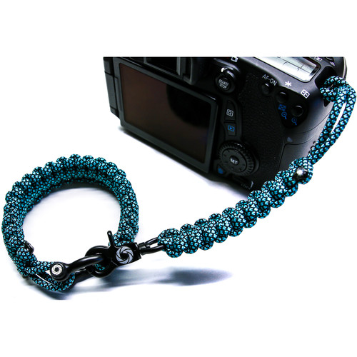 OSIRIS & CO. Complete System Woven Bracelet and Clip for Camera (Large, Blue Diamond)