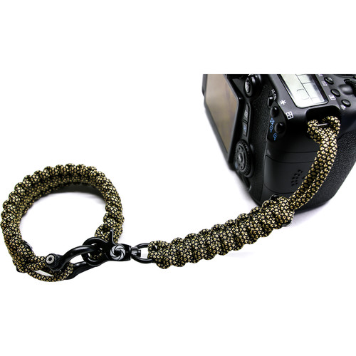 OSIRIS & CO. Complete System Woven Bracelet and Clip for Camera (Small, Golden Diamond)