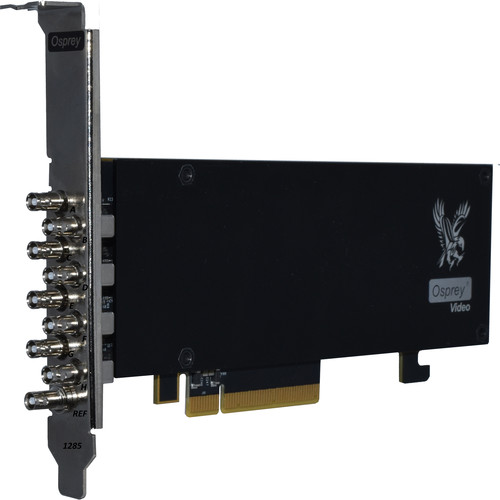 Osprey Raptor Series 1285 PCIe Capture Card with 8 x SDI I/O Channels