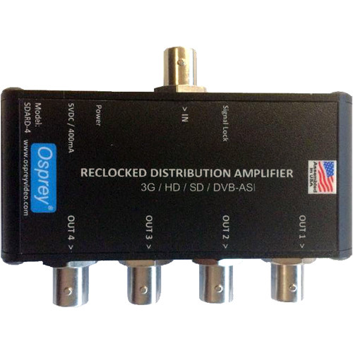 Osprey SDARD-4 1:4 Reclocking Video Distribution Amplifier for SDI/DVB-ASI
