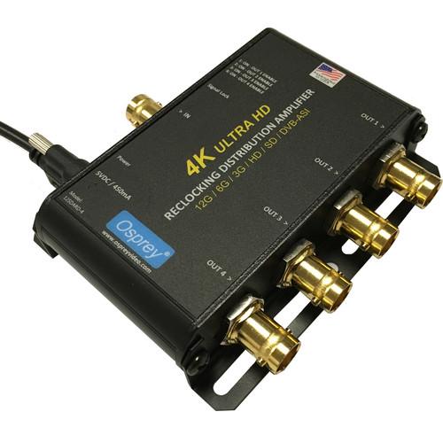 Osprey 12SDARD-4 1x4 12G-SDI Reclocking Distribution Amplifier