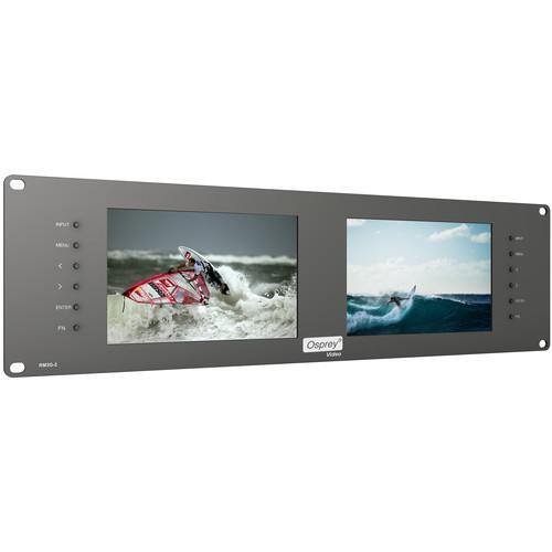 """Osprey RM3G-2 Dual 7"""" Monitor (3 RU)"""