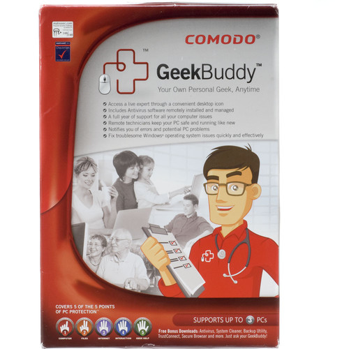 Other Brand Comodo GeekBuddy Service - Remote Support For PC Problems, Includes AntiVirus Software