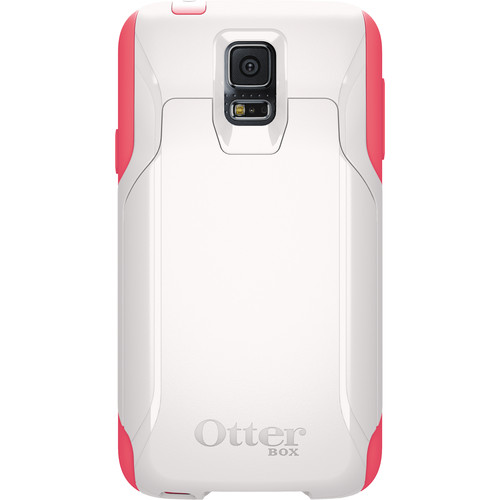 Otter Box Commuter Wallet Case for Galaxy S5 (White/Pink)