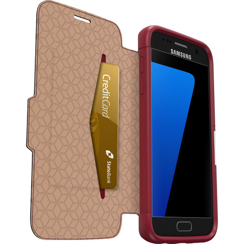 Otter Box Strada Case for Galaxy S7 (Ruby Romance Red)
