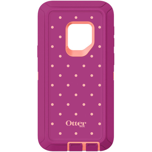 Otter Box Defender Series Screenless Edition Case for Samsung Galaxy S9 (Coral Dot)