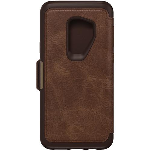 OtterBox Strada Folio Series Case for Samsung Galaxy S9+ (Espresso)