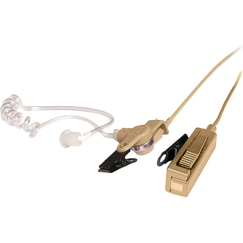 Otto Engineering V1-10171 Professional Surveillance 2-Wire Palm Microphone Kit for EF Johnson HT1000 2-Way Radios (Beige)