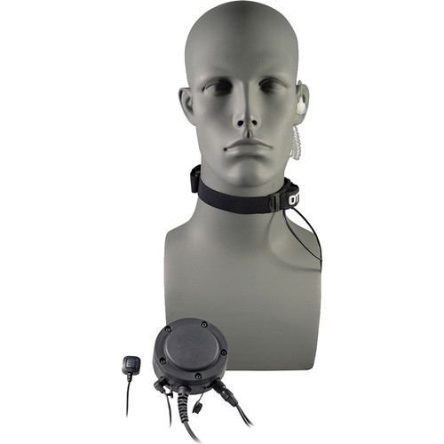 Otto Engineering Tactical Throat Microphone, with Acoustic Tube + 80mm PTT + Remote Ring PTT/MJ
