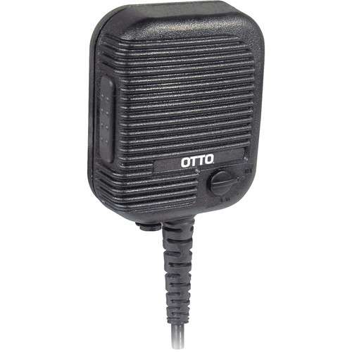 Otto Engineering Evolution Speaker Mic with Coil Cord, Volume Control, and 2.5mm Earphone Jack - IS/ATEX Approved (Motorola, MJ Connector)