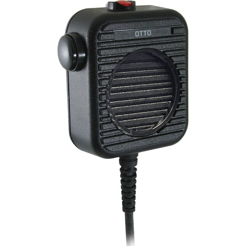 Otto Engineering Genesis II Speaker Mic, Coil Cord, Emergency Button with Accessory Jack