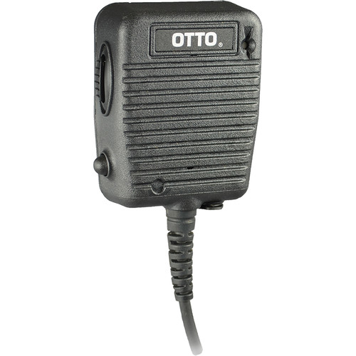Otto Engineering Storm Speaker/Mic:Coiled Coaxial Cord/2.5mm Earphone Jack,Emergency Button,LED:for Harris M/A-COM