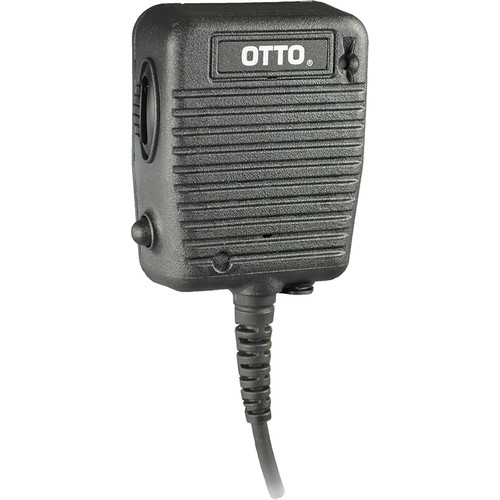 Otto Engineering Storm Speaker Mic, with Coil Cord, Volume Control, 3.5mm Earphone, Emergency Button and LED