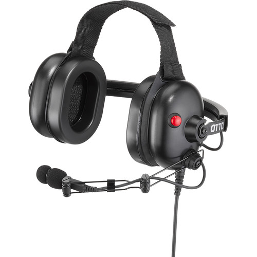 Otto Engineering Cleartrak, Behind-The-Head, Dual Speaker Extreme Noise with Earcup PTT