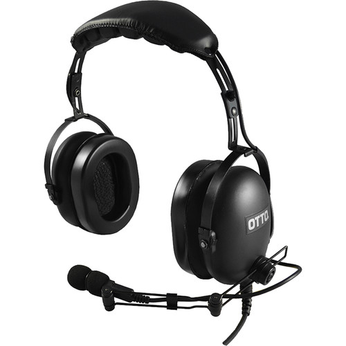 Otto Engineering Over-The-Head Dual Speaker Heavy Duty Noise Canceling with Inline PTT