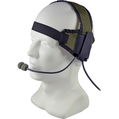 Otto Engineering Tactical II Headset,Soft Earcup,Boom Microphone,Black Velcro Head Strap+Elastic Band with Body PTT
