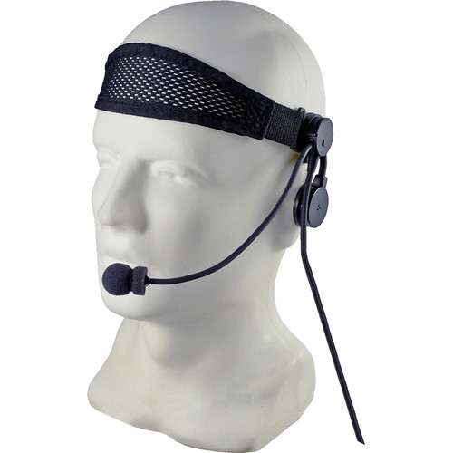 Otto Engineering Tactical IV Headset, Combined Speaker and Boom Microphone Clipped Onto Black Headband with Body PTT