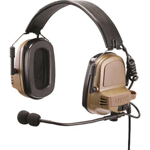 Otto Engineering Noizebarrier TAC, Over-the-Head, Single Com, Rugged Single PTT-Motorola (Black)