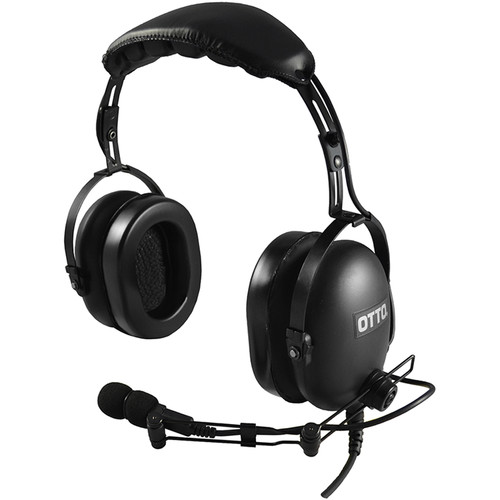 Otto Engineering Classic Over-The-Head Dual Speaker Heavy Duty with Standard PTT-ICOM