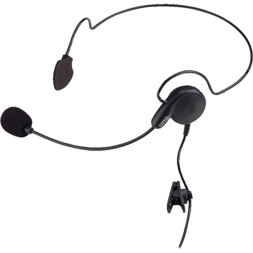 Otto Engineering Breeze Lightweight Behind-Head,Single Speaker with Standard PTT+2.5mm Pigtail for Optional Remote PT