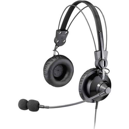 Otto Engineering Lightweight Premium Dual Ear w/Swivle Ear Cup,Mini PTT,Noise Canceling Boom Microphone(Kenwood/KB)